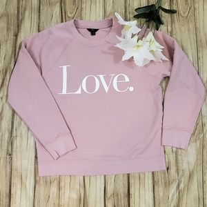 🆕 J Crew Blush Pink Love Sweatshirt Size M Medium
